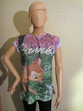 Authentic Disney BAMBI & THUMPER Ladies T Shirt from Primark FREE UK SHIPPING