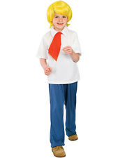 Childs Licensed Scooby Doo Cartoon Fred Fancy Dress Costume Kids Boys Male BN