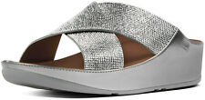 Brand New FitFlop B33-011 Women's Silver Crystall Slide Sandals