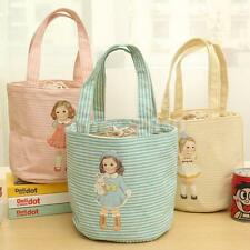 Cute Doll Portable Insulated Thermal Cooler Lunch Box Picnic Bag Storage Tote