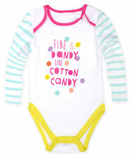 Baby New Cotton Long Sleeved  Playsuits Girls One Piece Babygrow 3 6 9 12 Months