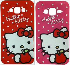 Cute Hello Kitty Back Cover For Apple iPhone ( Pink & Red) Select your below