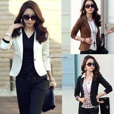 Donna One Pulsante casual corti Giacche Giacca Blazer Cardigan Suit giacca