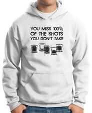 Felpa Hoodie BEER0308 You Miss 100x100 of the Shots You Don t Take