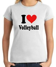 T-shirt Donna TLOVE0010 i heart volleyball