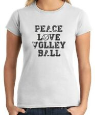 T-shirt Donna OLDENG00208 peace love volleyball
