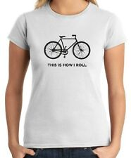 T-shirt Donna OLDENG00274 this is how i roll bicycle