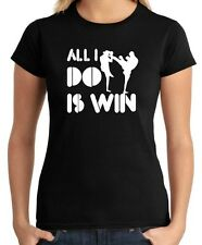 T-shirt Donna OLDENG00379 all i do is win kickboxing