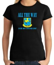 T-shirt Donna OLDENG00380 all the way 5th bn 502nd inf white