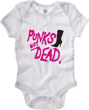 Body neonato T0423 PUNKS NOT DEAD fun cool geek