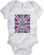 Body neonato T0752 keep calm it is friday fun cool geek