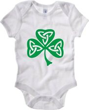 Body neonato TIR0019 celtic shamrock dark tshirt