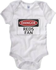 Body neonato WC0307 DANGER REDS FAN, FOOTBALL FUNNY FAKE SAFETY SIGN