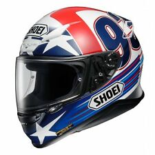 Shoei NXR Marquez Indy Motorcycle Full Face Helmet Red White Blue Size XL