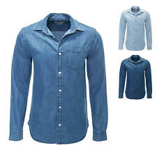 NEU Jack & Jones Herren Jeanshemd Langarmhemd Freizeithemd Long Shirt Denim Blue