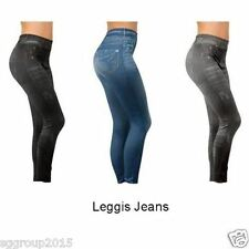 JEAN JEGGINGS / SKINNY JEGGINGS / DENIM PRINTED  LEGGINGS -WOMENS /TEENS /GIRLS