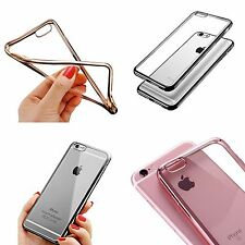 IPHONE 5 / 5S 5SE ULTRA - THIN METAL ELECTROPLATING SOFT GEL TPU SILICONE CASE
