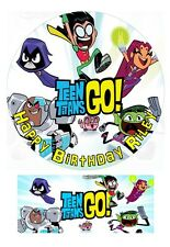 Teen Titans Go Personalized Edible Cake toppers 7 Inch/ cupcakes  Precut