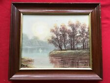 LANDSCAPE OIL PAINTING BY BECK SIGNED ON CANVAS FRAMED