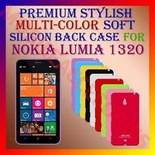 ACM-PREMIUM MULTICOLOR SOFT SILICON BACK CASE for NOKIA LUMIA 1320 MOBILE COVER