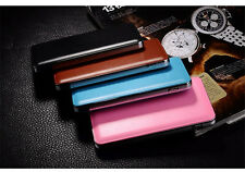 Hot Leather Power Bank Portable External Battery Charger For Phones 100000mah DE