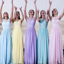 Sexy Chiffon Evening Formal Gowns Cocktail Party Prom Dress Bridesmaid Dresses