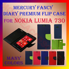 ACM-MERCURY PREMIUM DIARY FLIP CASE for NOKIA LUMIA 730 MOBILE WALLET COVER NEW