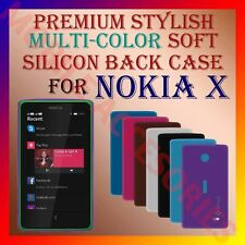 ACM-PREMIUM MULTI-COLOR SOFT SILICON BACK CASE for NOKIA X ANDROID MOBILE COVER