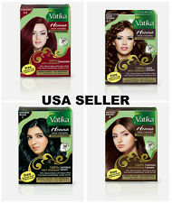 Dabur Vatika Henna Powder Best Hair Color Dark Natural Brown Burgundy Black USA