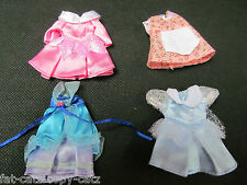 QUALITY SHELLY DOLL SIZED CUTE DRESSES 5 COLOURS: PINK BLUE SNOW WHITE PEACH UK