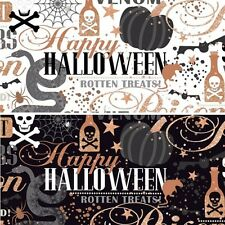Potions and Spells Witchcraft Spooky Halloween 100% Cotton Patchwork Fabric