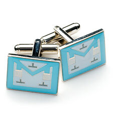 New Boxed Craft Masonic Worshipful Master Apron Cufflinks WM