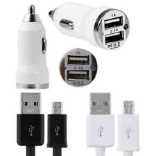 1M 2M 3M Micro USB Cable + Dual Car Charger for Samsung Galaxy A5 A3 J1 J3 J5