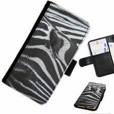ANIA26 ZEBRA DESIGN  PRINTED LEATHER WALLET/FLIP PHONE CASE COVER FOR ALL MODELS