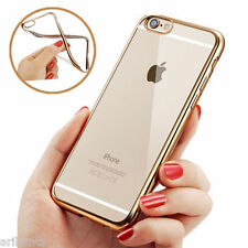 Transparent Soft Back Cover Case with Colored Border for Apple i Phone 6G 4.7