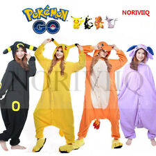 Pokemon Adult  erwachsenes Tier Hooded Kigurumi Cosplay Pikachu Pyjamas