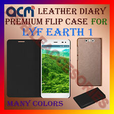 ACM-LEATHER PREMIUM FLIP FLAP CASE for LYF EARTH 1 MOBILE FRONT/BACK FULL COVER