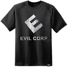 Mr Robot - Evil Corp Distressed Logo Style T Shirt FSociety Hacker Collective TV