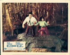 Blindfold Rock Hudson Claudia Cardinale Lobby Card Alligator In Swamp