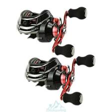 12BB 6.3:1  Hand Baitcasting Fishing Reel Bait Casting Reels Red