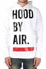 HBA HOOD BY AIR New Men White Pockets Hoodie Cotton Sweatshirt NWT