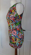 NEW MARVEL COMIC PRINT DRESS/VEST TOP–SPIDERMAN,HULK,FANTASTIC 4,CAPTAIN AMERICA