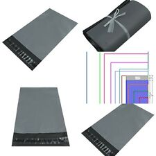 Grey Plastic Strong Packaging Postal Polythene Mailing Bag 10-Sizes Mail BagsUK