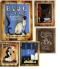 Wooden Coffee Signs Collection Retro/Vintage Cafe Signs