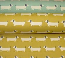 NEW Fryetts HOUND DOG Dachshund Cotton Fabric Curtain Upholstery Craft Quilting