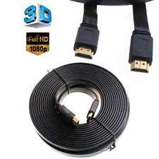 2M 5M 10M Flat HDMI Cable Adapter Gold Plated High Speed V1.4 HDMI to HDMI Lead