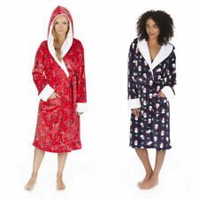 Ladies Womens Dressing Gown Flannel Fleece Christmas Robe Novelty Xmas Soft New