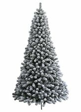 Prince Flock Artificial Christmas Tree - Unlit, Heavily Flocked Snowy tips