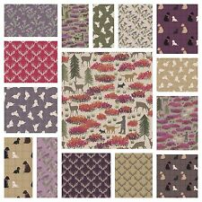 A WALK IN THE GLEN LEWIS & IRENE - DOGS THISTLES 100% COTTON FABRIC SCOTLAND