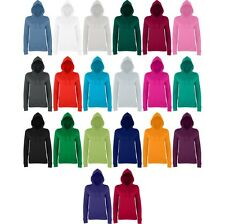 Ladies Women AWDis Colour Cotton Rich Girlie College Hoodie Hooded Top